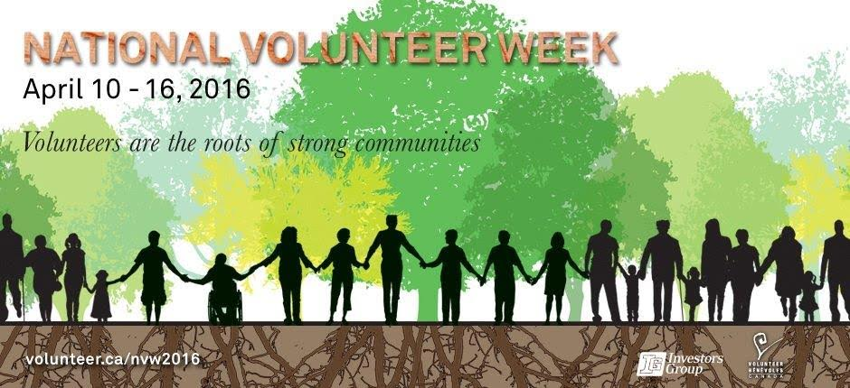 National Volunteer Week, April 10 - 16, 2016